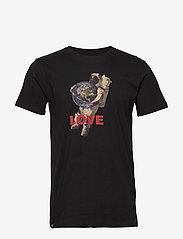 DEDICATED - T-shirt Stockholm Astro Love - printti t-paidat - black - 0