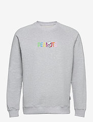DEDICATED - Sweatshirt Malmoe Peanuts Logo Grey Melange - sweats - grey melange - 0