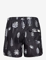 DEDICATED - Swim Shorts Sandhamn Tropic Leaves Grey - shorts de bain - grey - 1