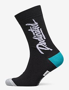 Socks Sigtuna Dedicated Script - tavalliset sukat - black