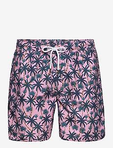 Swim Shorts Beach Palms - badebukser - pink