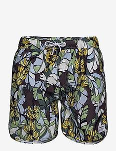 Swim Shorts Banana Leaves - shorts - green