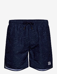 Swim Shorts Japanese Waves - badehosen - estate blue
