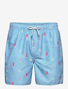 Swim Shorts Drinks - badebukser - turqouise