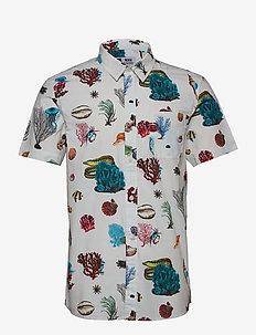 Shirt Short Sleeve Sandefjord Coral Reef - overhemden korte mouwen - off-white
