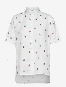 Shirt Short Sleeve Nibe Bugs - overhemden met korte mouwen - white