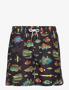 Swim Shorts Sandhamn Fish - szorty kąpielowe - black