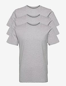 T-shirt Stockholm Base Grey Melange 3-pack - t-shirts basiques - grey melange