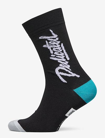 Socks Sigtuna Dedicated Script - chaussettes régulières - black