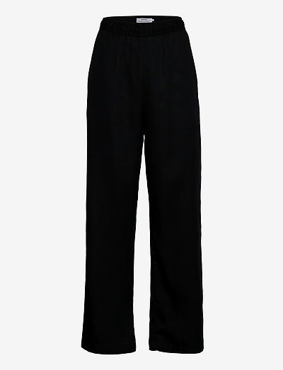Pants Moss - pantalons casual - black