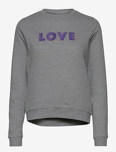 Sweatshirt Ystad Love - sweatshirts et sweats à capuche - grey melange