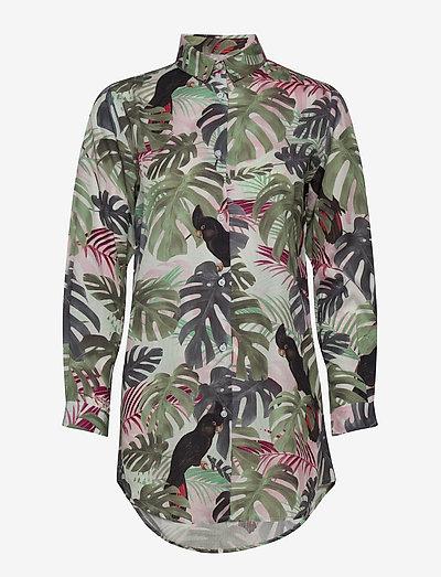 Shirt Fredeicia Color Leaves - chemises en jeans - green