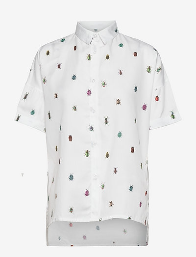 Shirt Short Sleeve Nibe Bugs - chemises en jeans - white