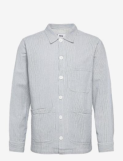 Worker Jacket Sala Thin Stripes - koszule w kratkę - blue