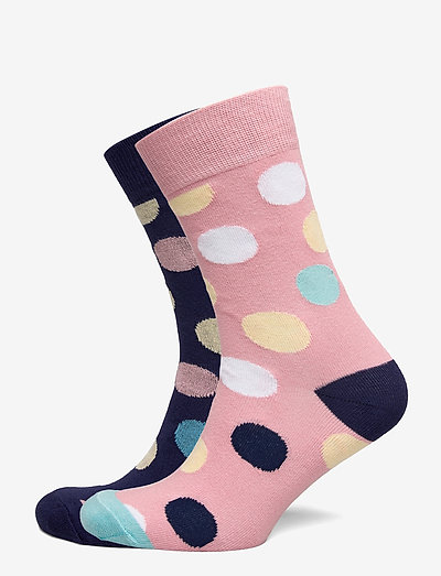 Socks Sigtuna 2-pack Multi Dots Pink and Navy - chaussettes régulières - black