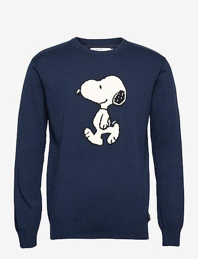 Sweater Mora Snoopy Navy - knitted round necks - black iris