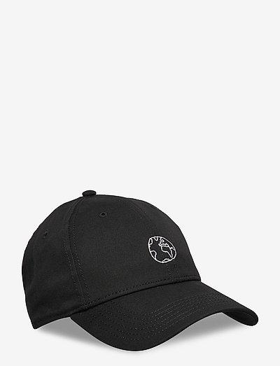 Sport Cap Globe Black - bonnets & casquettes - black