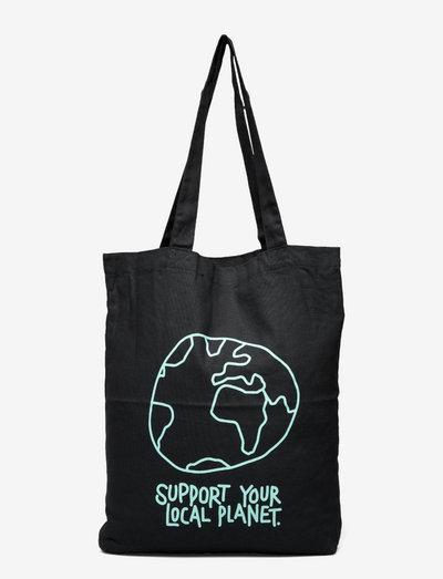 Tote Bag Torekov Local Planet Black - shoppers - black