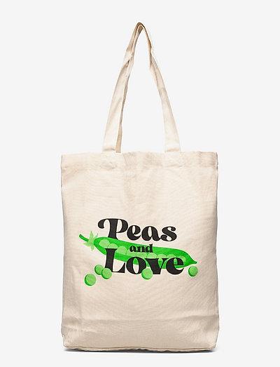 Tote Bag Torekov Peas And Love Off-White - shoppers - off-white