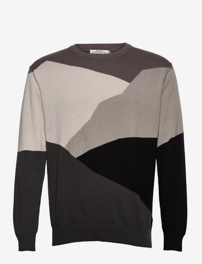 Sweater Mora Cut Mountain Grey - pulls col rond - multi color
