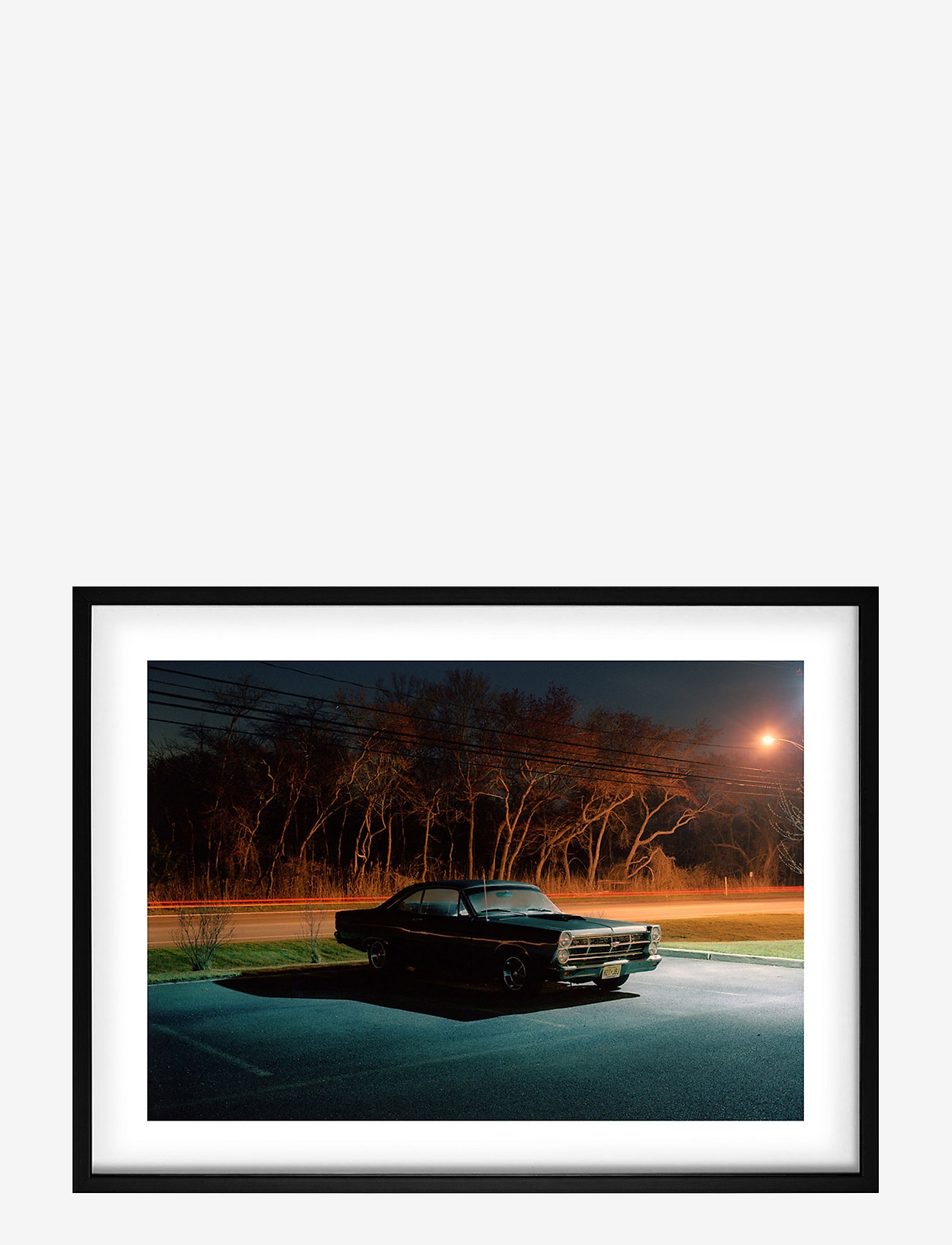 Democratic Gallery - Poster Car at Night - home decor - blue - 0