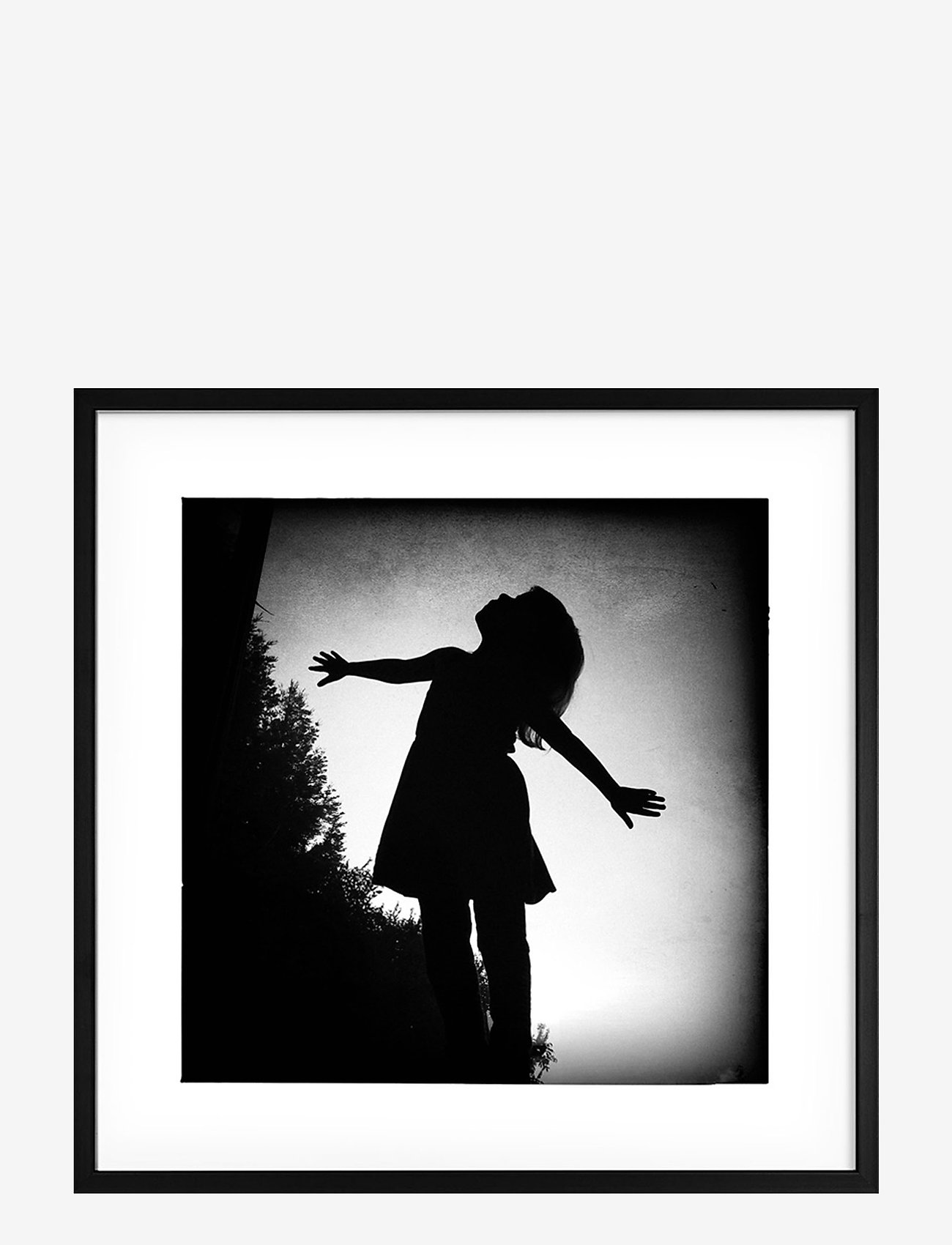 Democratic Gallery - Poster Silhouette Girl - wystrój domu - black - 0