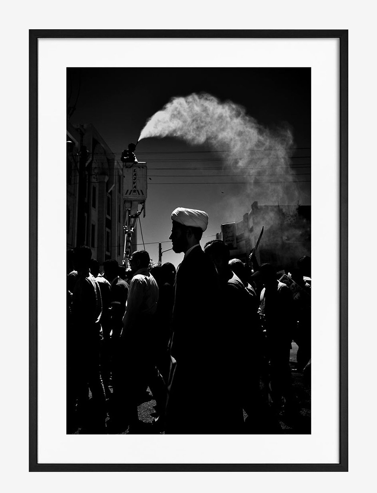Democratic Gallery - Poster Monochrome Middle Eastern Market - home decor - black - 0