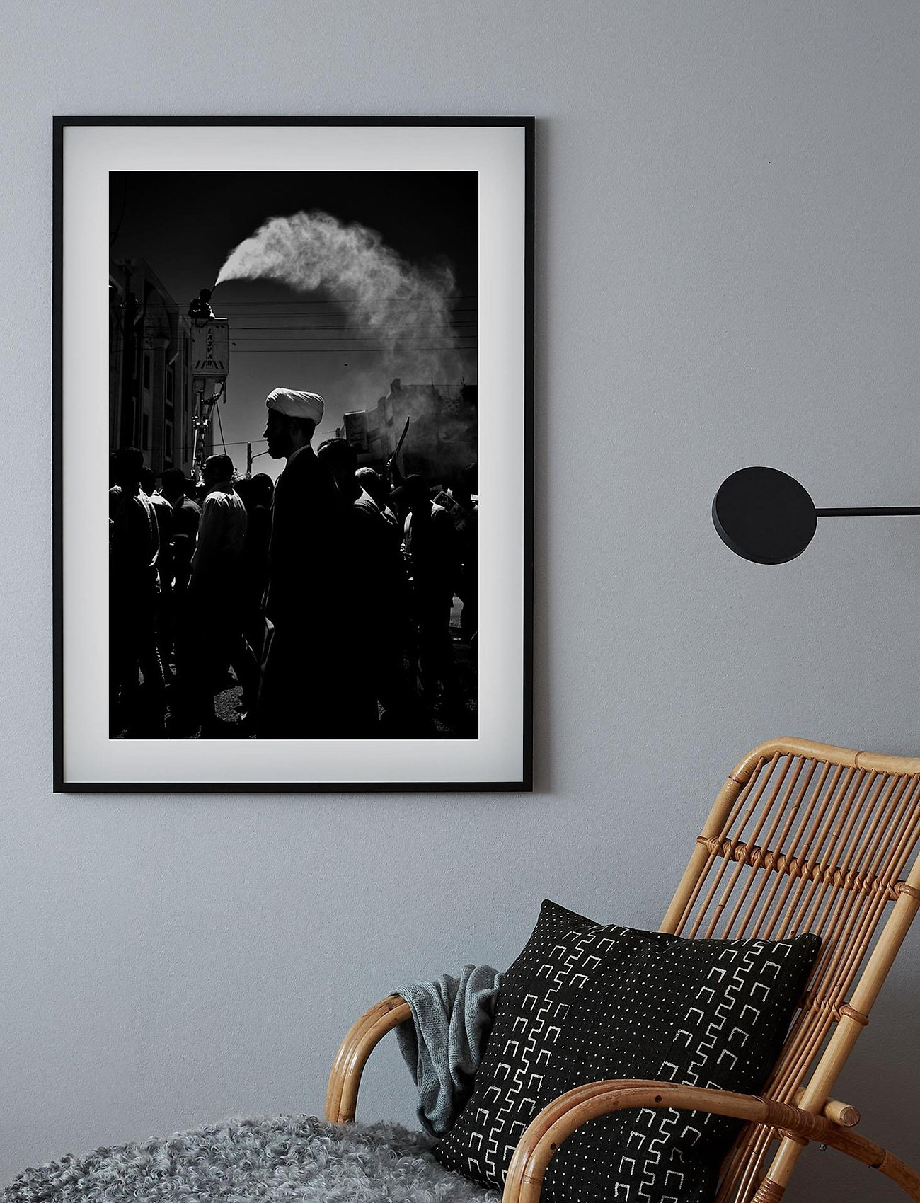 Democratic Gallery - Poster Monochrome Middle Eastern Market - home decor - black - 1