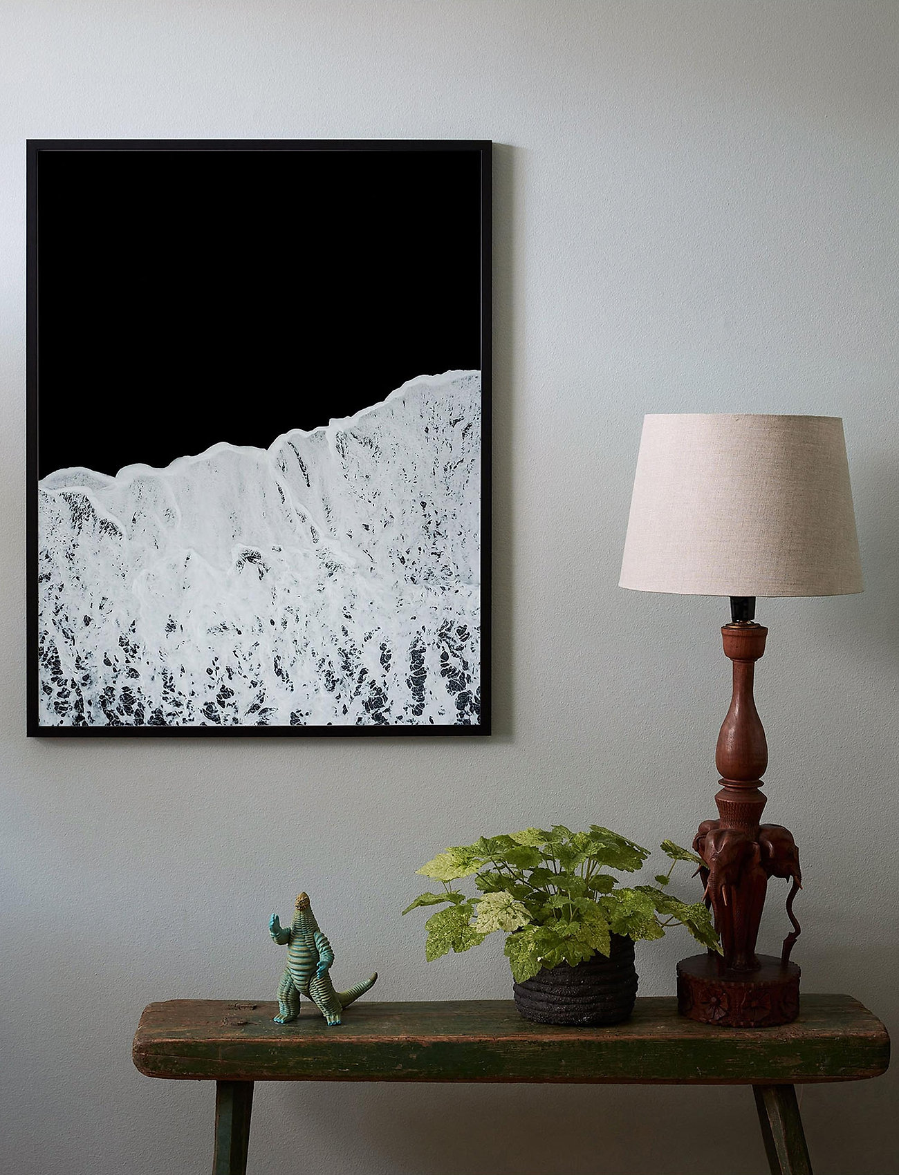 Democratic Gallery - Poster Waves - décor - black - 1