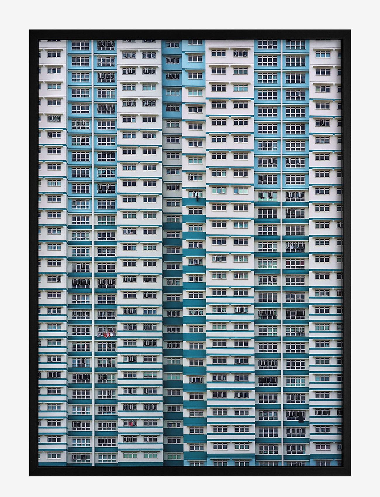 Democratic Gallery - Poster Pattern Architecture - wystrój domu - blue - 0
