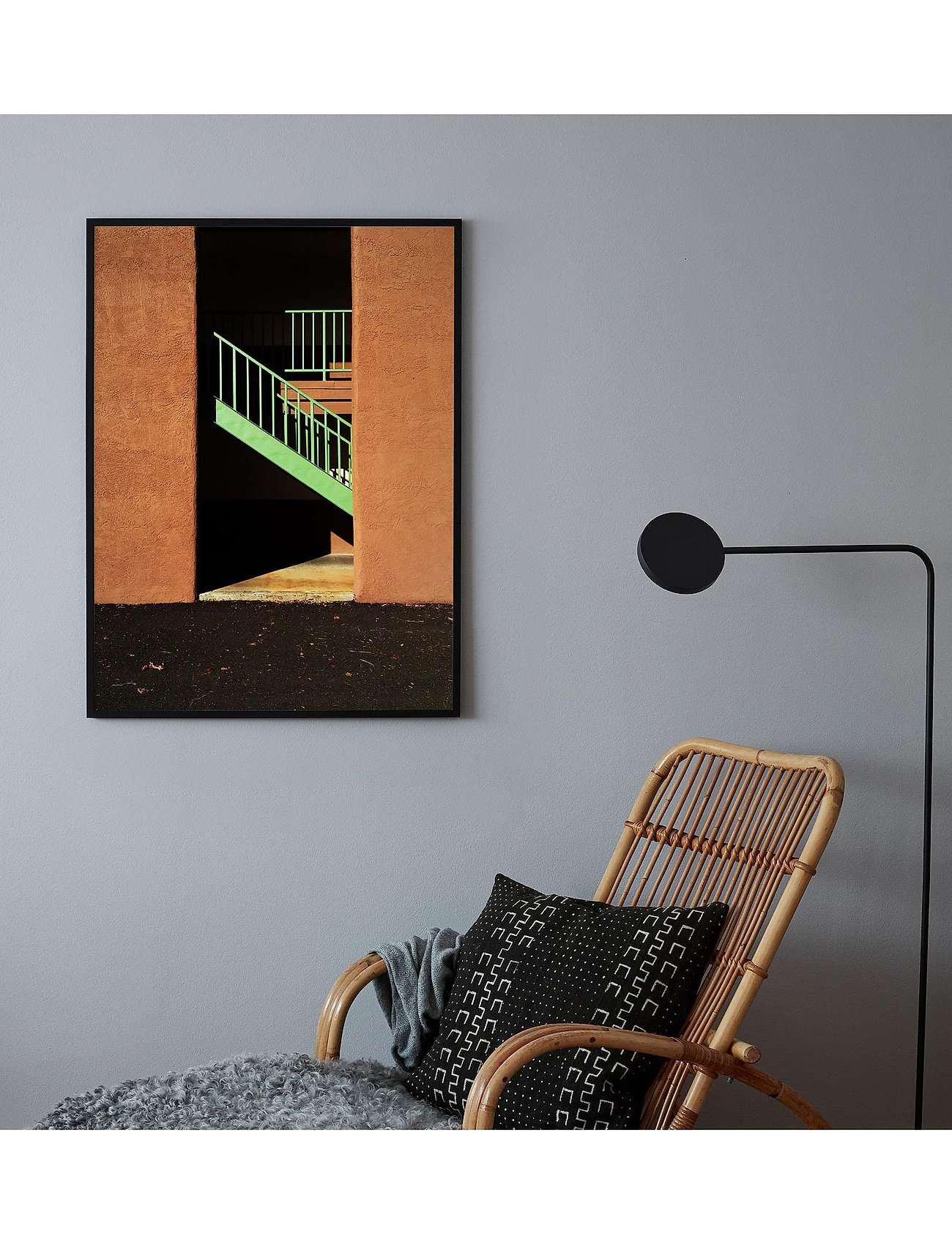 Democratic Gallery - Poster Staircase in Sunlight - home decor - orange - 1