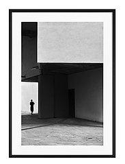 Poster Cubist Architecture - BLACK