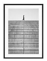 Poster Monochrome Staircase - BLACK