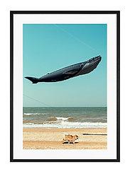 Poster Balloon on the Beach - BLUE