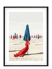 Poster Colorful Beach - RED