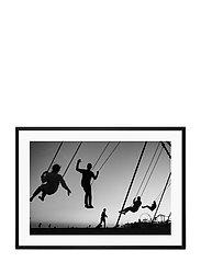 Poster Silhouette Swing - BLACK