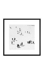 Poster Monochrome Sand Beach - BLACK