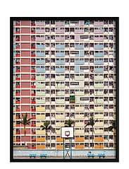 Poster Colorful Architecture - RED