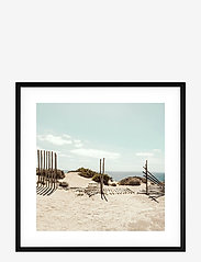 Democratic Gallery - Poster Beach in France - home decor - blue - 0