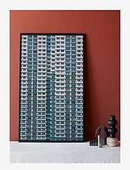 Democratic Gallery - Poster Pattern Architecture - home decor - blue - 1
