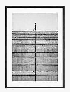 Poster Monochrome Staircase - obrazy - black