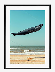 Poster Balloon on the Beach - affiches - blue