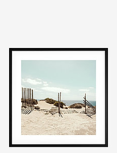 Poster Beach in France - affiches - blue