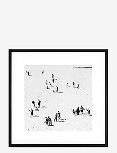 Poster Monochrome Sand Beach - affiches - black