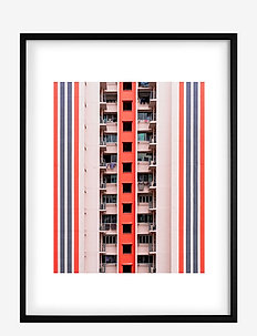 Poster Balconies - home decor - pink