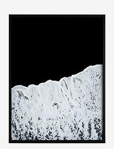 Poster Waves - home decor - black