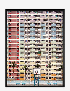 Poster Colorful Architecture - affiches - red