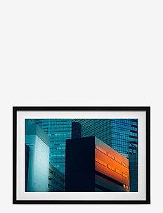 Poster Skyscrapers - home decor - orange
