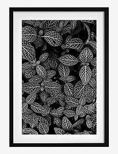 Poster Abstract Plant - affiches - black