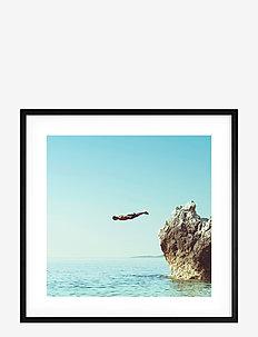 Poster Cliff Dive - affiches - blue